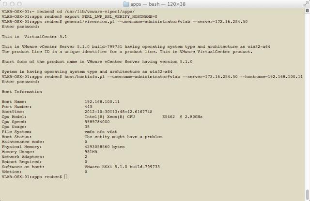 Validate vSphere Perl SDK Utilities