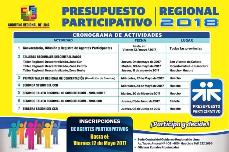 GoReLima Convoca A Participar Del Presupuesto Participativo 2018 (VIDEO)
