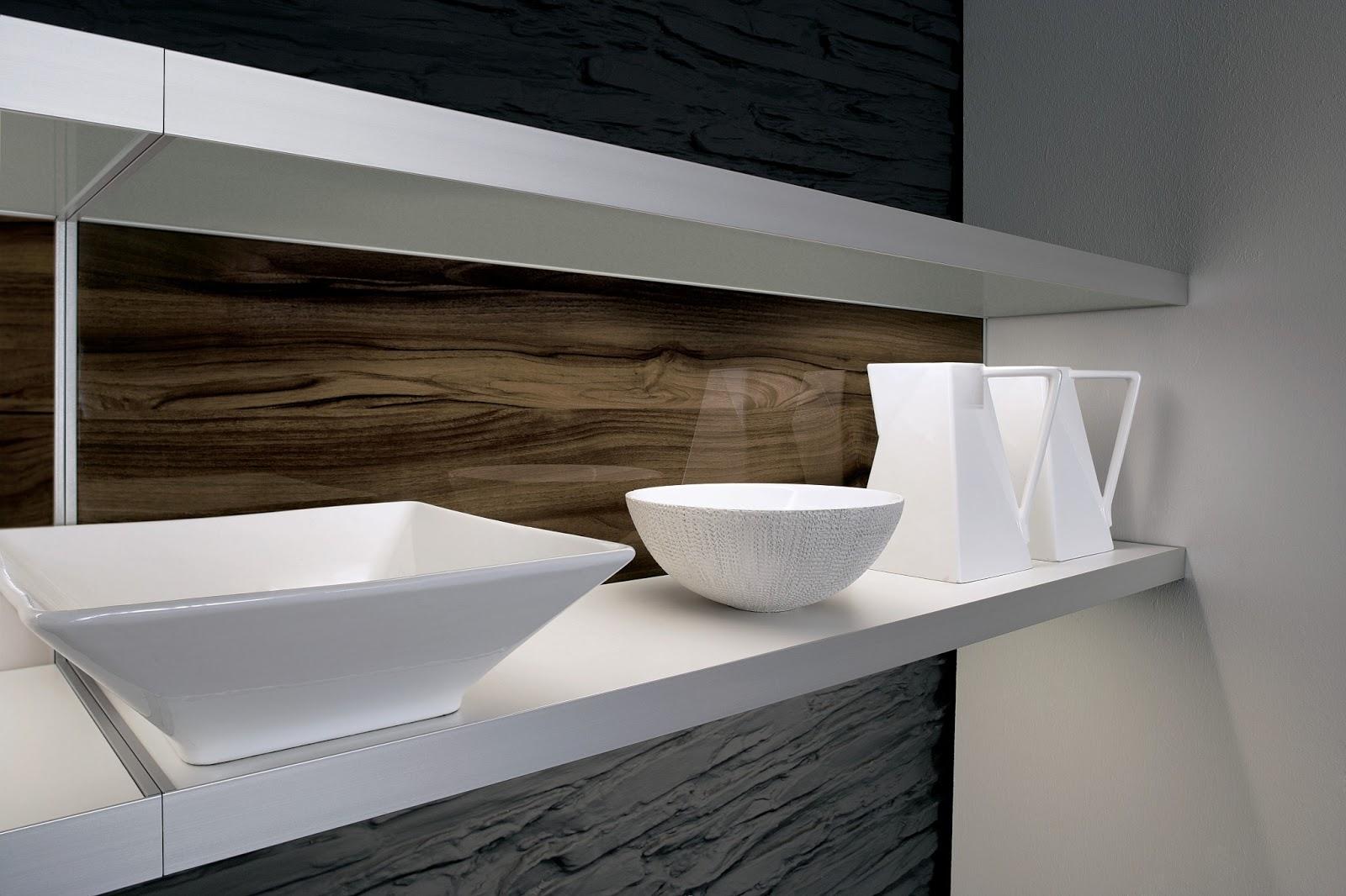 Mitigeur semi pro et façades de cuisine design en bois