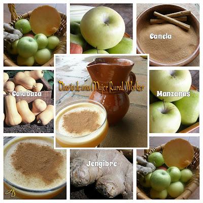 Jugo de calabaza y manzana