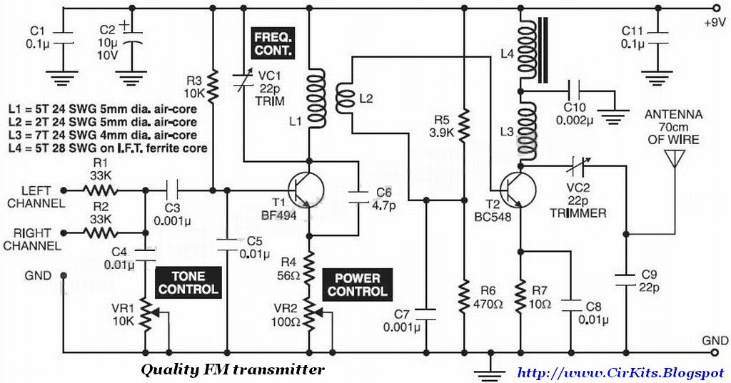audio fm transmitter with stereo input
