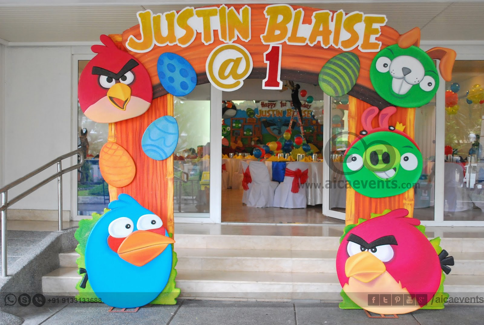 Aicaevents angry bird theme decors for birthday parties for Angry birds party decoration ideas