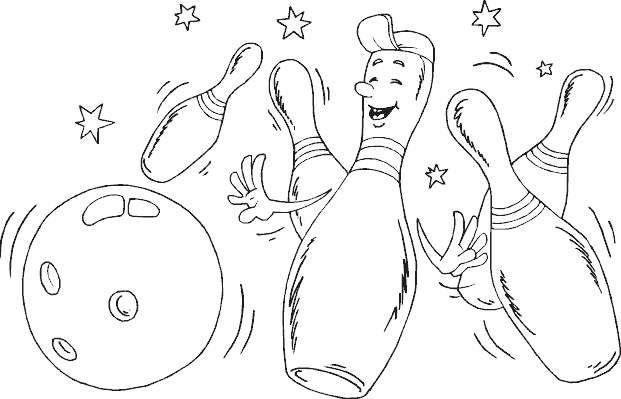bowling pin coloring pages - photo#17