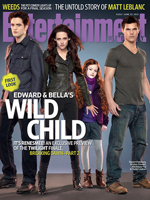 Robert Pattinson, Kristen Stewart, Mackenzie Foy and Taylor Lautner (Breaking dawn Part 2)
