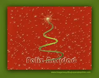 tarjeta feliz navidad para imprimir