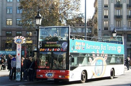 двухэтажный туристический автобус, Испания, Барселона