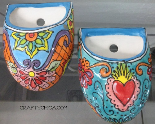 Ilovetocreate blog diy mexican painted planters for Mexican arts and crafts for sale