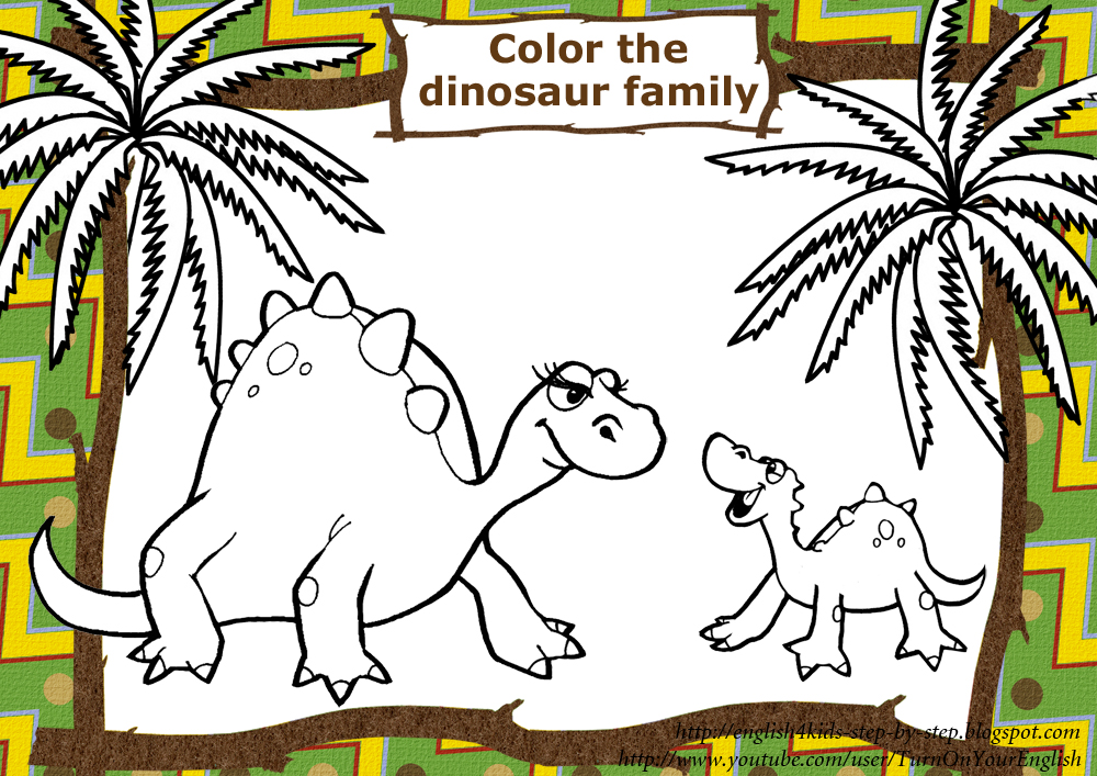 dinosaur family coloring pages - photo#6