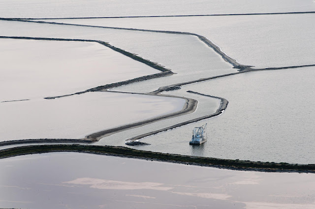 Salt pans in Southern California