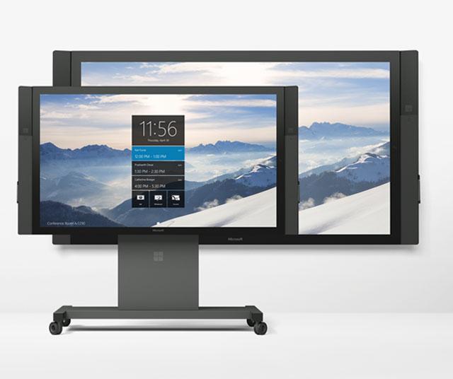 отличие между двумя моделями Surface Hub