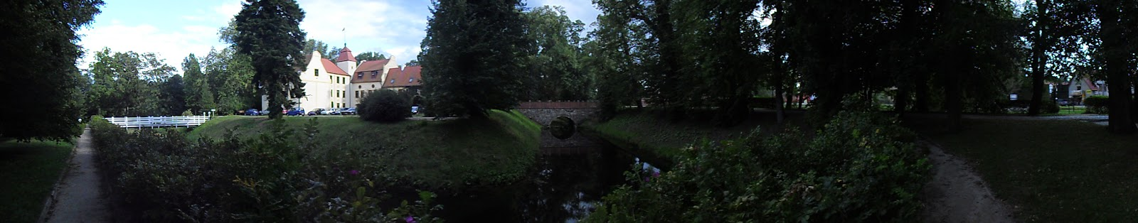 Pałac i park w Krokowej - zdjęcie panoramiczne