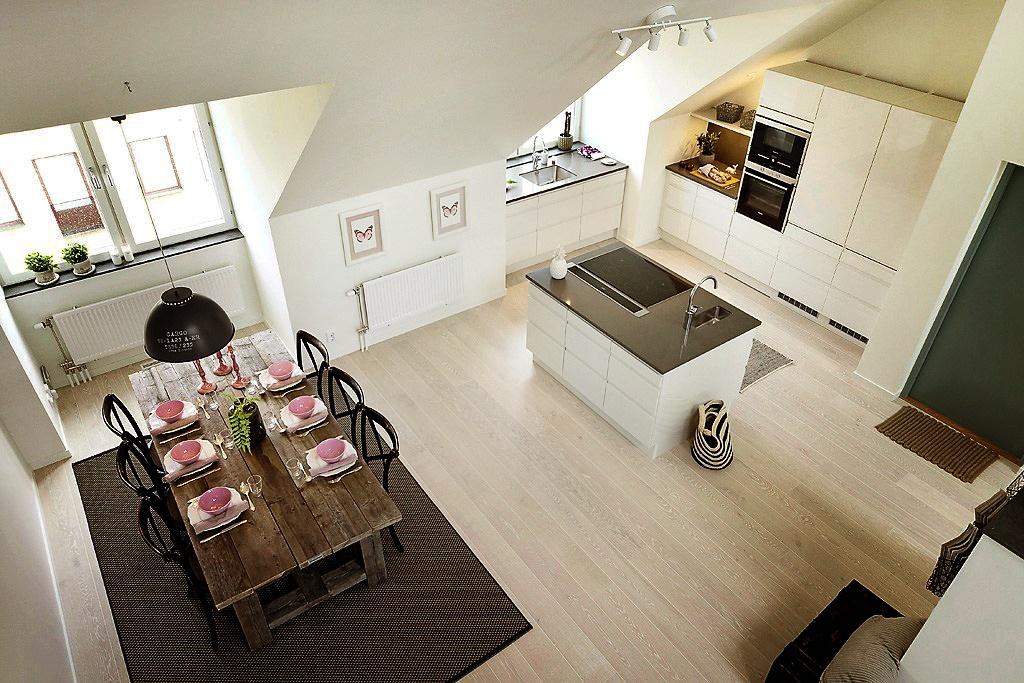 Mieszkanie na poddaszu bajkowe wn trza for Moderne inrichting