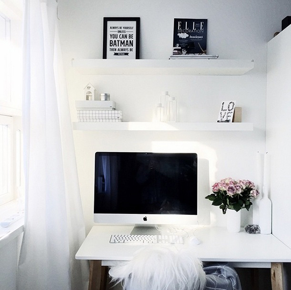 Scandinavian inspired home offices | frederikkewaerens on instagram