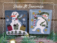 Shake It Snowman Punch Needle Pattern $6.00