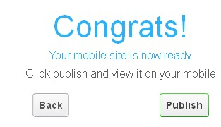 Create a flash mobile website Congrats