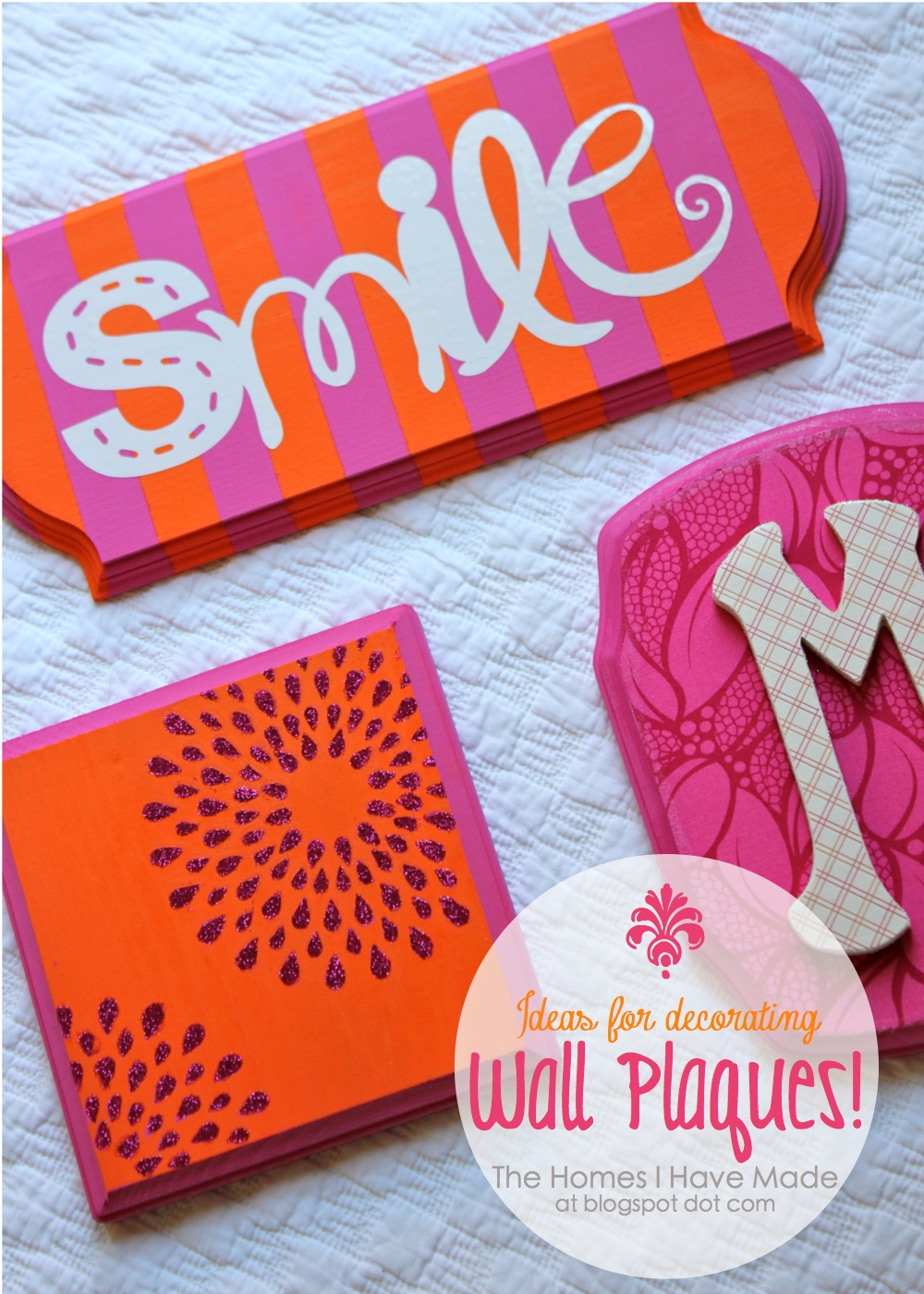 Ideas For Decorating Wall Plaques Fabric Paper Monogram The