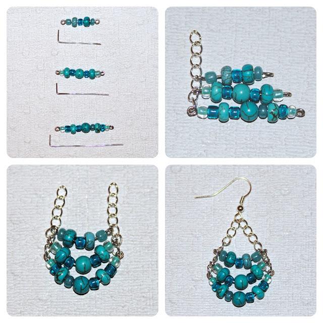 Diy chandelier earrings fishhook earring findings mozeypictures Images