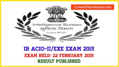 IB ACIO 2015 Result