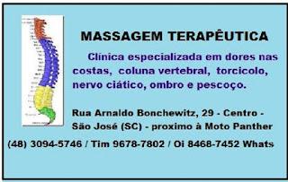 Dores lombares - Dores nas Costas - Clínica de Massoterapia em São José (SC)