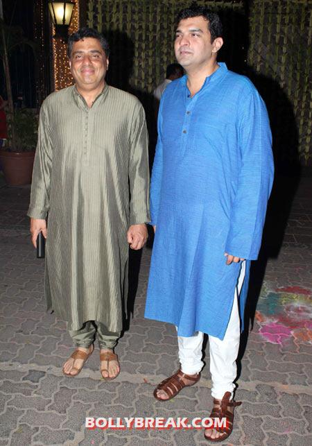 Ronnie Screwvala and Siddharth Roy Kapoor - (24) - Amitabh Bachchan Diwali Bash Photos