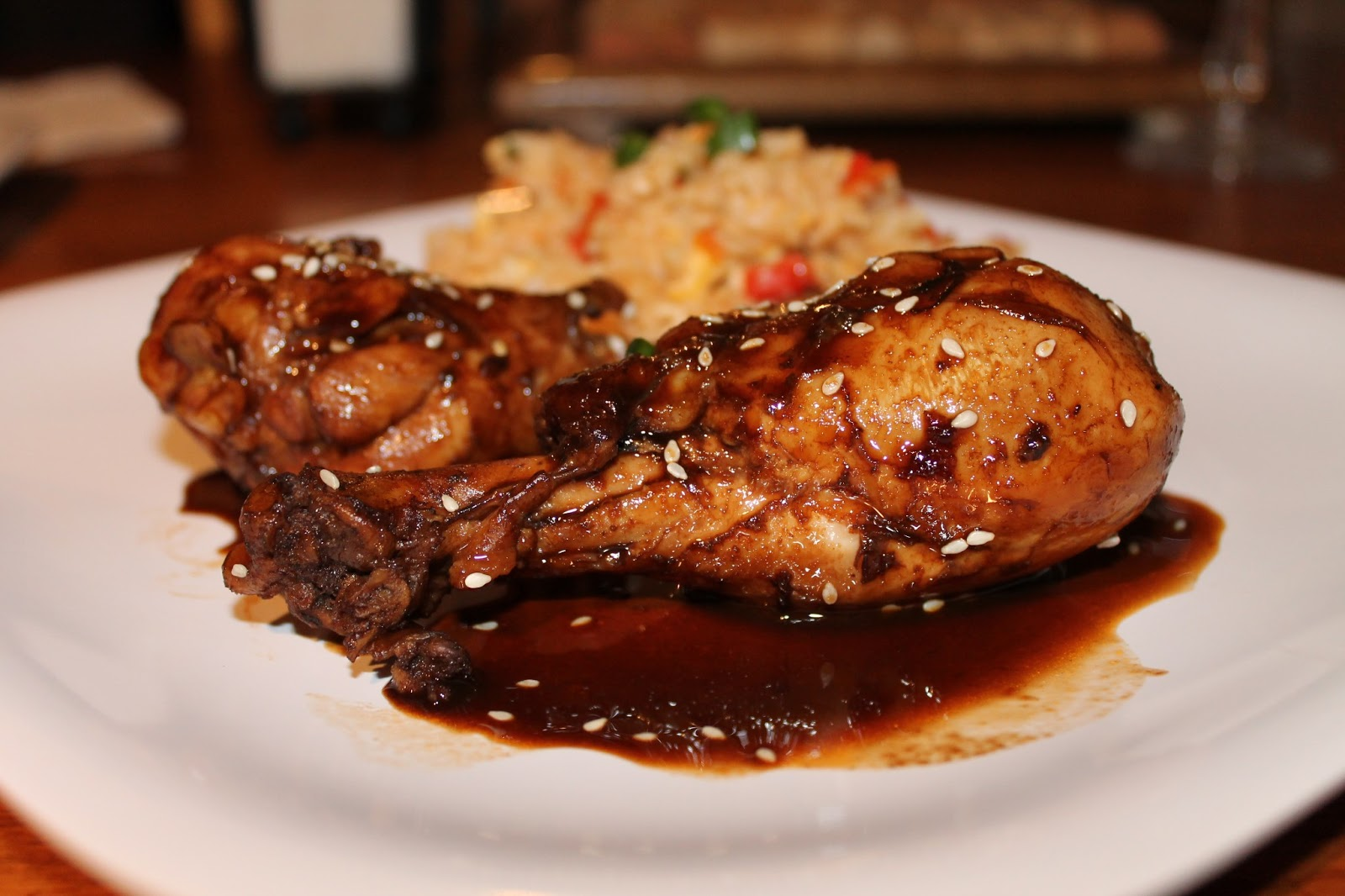 Kat's Fit Food: Asian Glazed Drumsticks with Brown Fried Rice