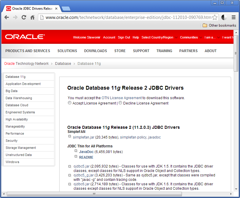 Oracle Database 12c Release 2 Jdbc Driver Downloads