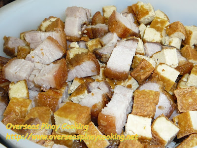 Crispy Tokwa't Baboy, Crispy Fried Pork with Tofu