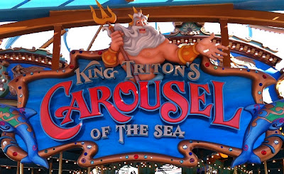 King Triton's Carousel DCA Paradise Pier Disney California Adventure