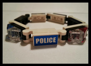 Police Brick Bracelet available through Building Legos with Christ