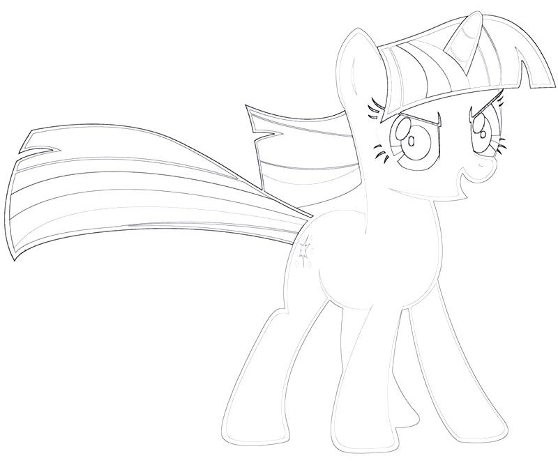 #21 Twilight Sparkle Coloring Page