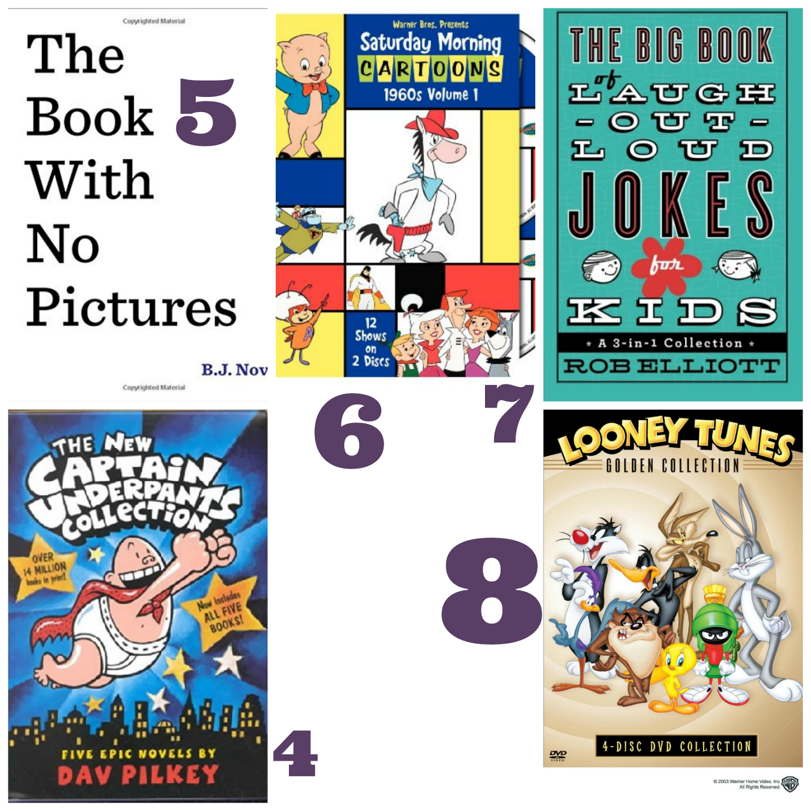 Funny Books and Movies for Kids