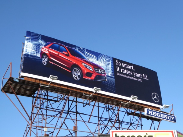 So smart raises IQ Mercedes GLE billboard