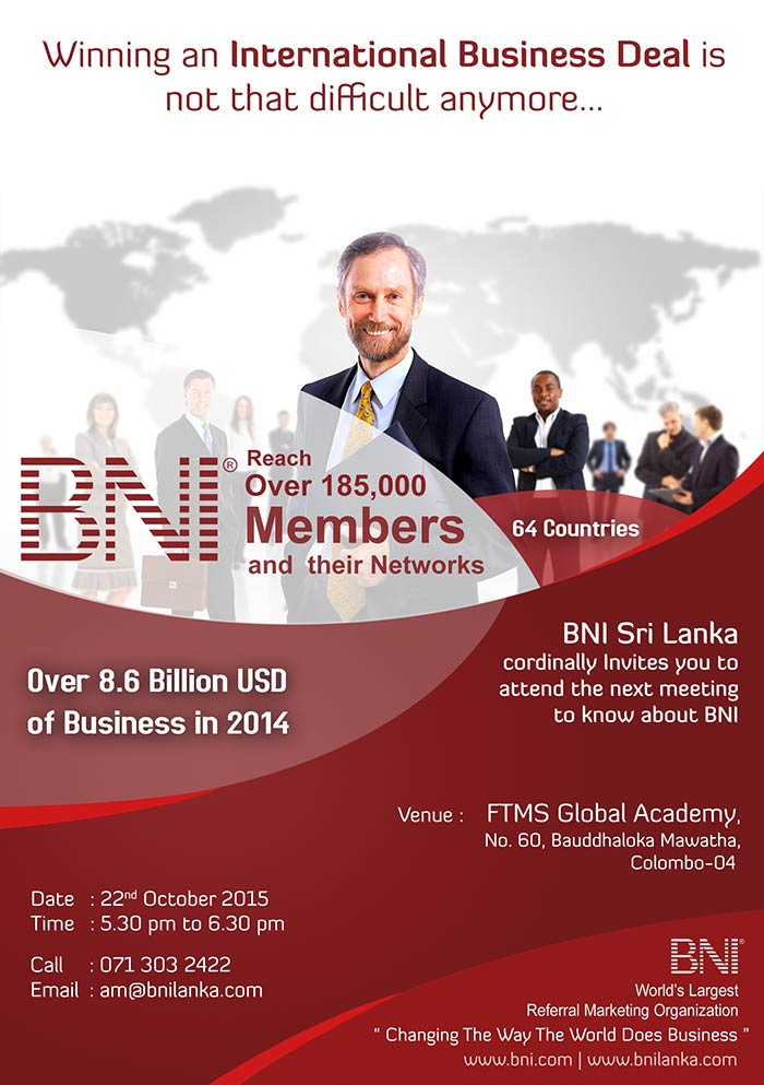 Business Network International (BNI), a leading networking organisation that links businesses and facilitates business promotion.