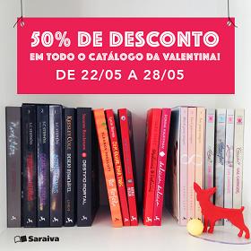Valentina + Saraiva = 50% de desconto