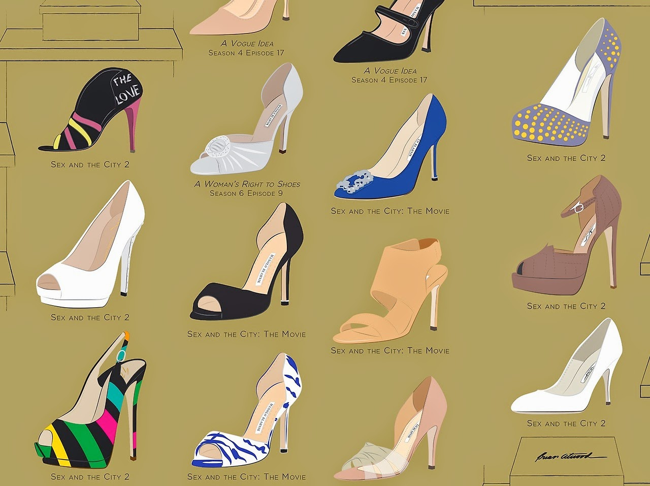 Three Bad Mice: Carrie Bradshaw\'s Shoe Closet for Just $29