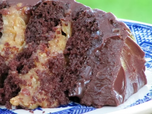Once Upon A Chocolate Life: Inside Out German Chocolate Cake