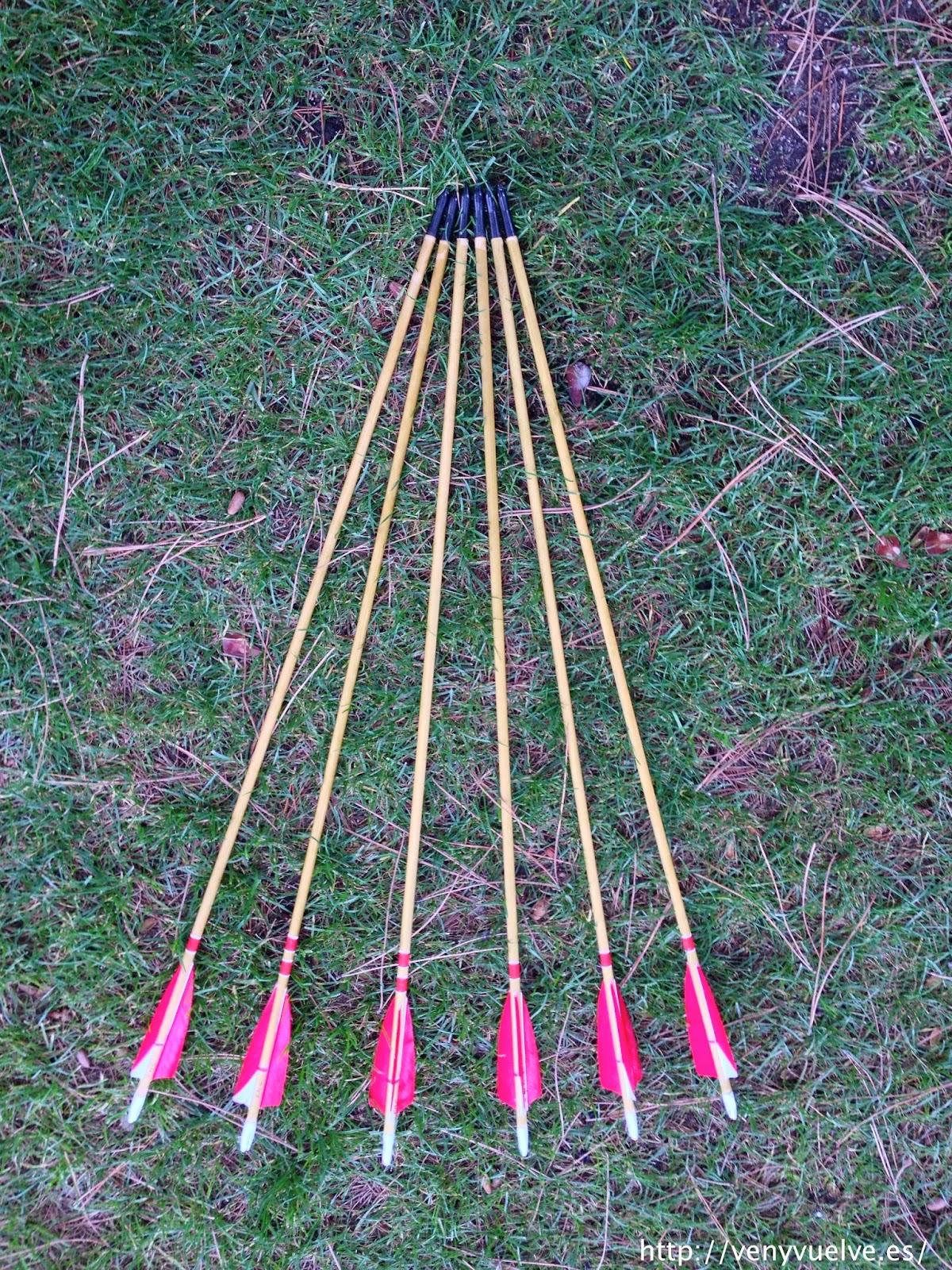 cómo se hacen las flechas de madera