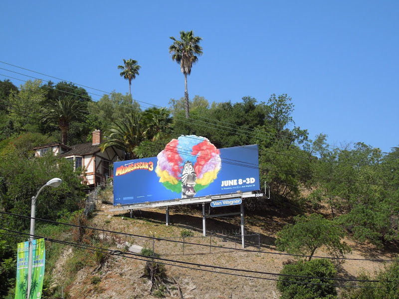 Madagascar 3 Marty Zebra billboard