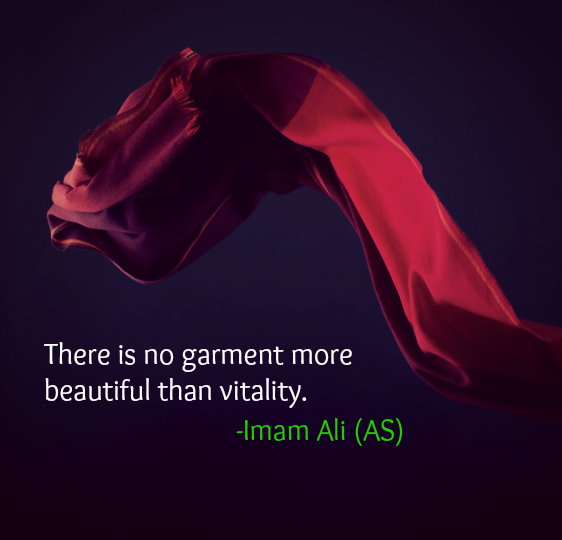There is no garment more beautiful than vitality.