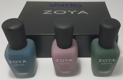 Zoya NYFW Satin Trio 2015 | Kat Stays Polished