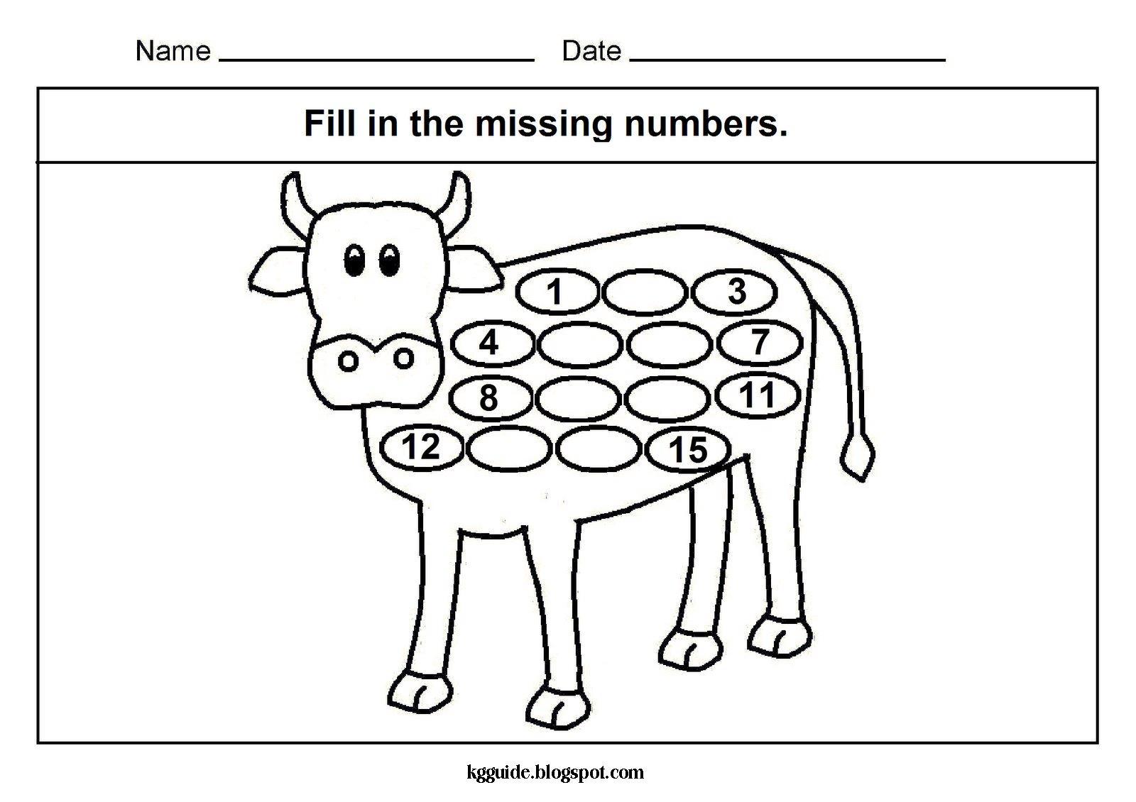 math worksheet : maths worksheet for kindergarten missing numbers  kindergarten  : Missing Number Worksheets For Kindergarten