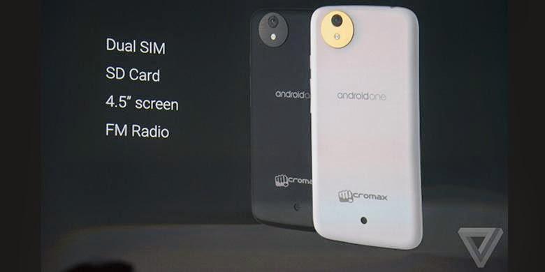Ponsel Android One dari Micromax