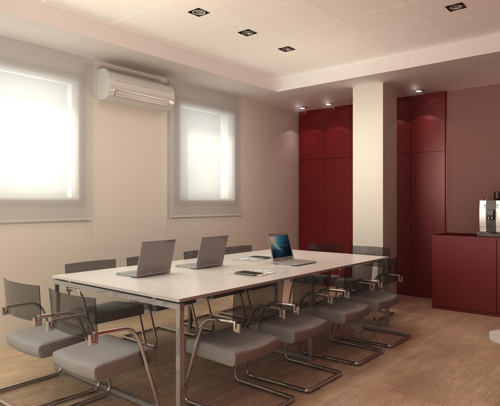 Atrezzo 3d reforma en sala de reuniones for Sala de reuniones