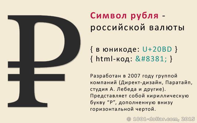Символ (знак) рубля
