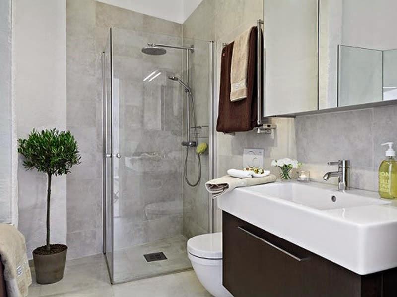 kamar asik, kamar mandi unik, kaca mewah