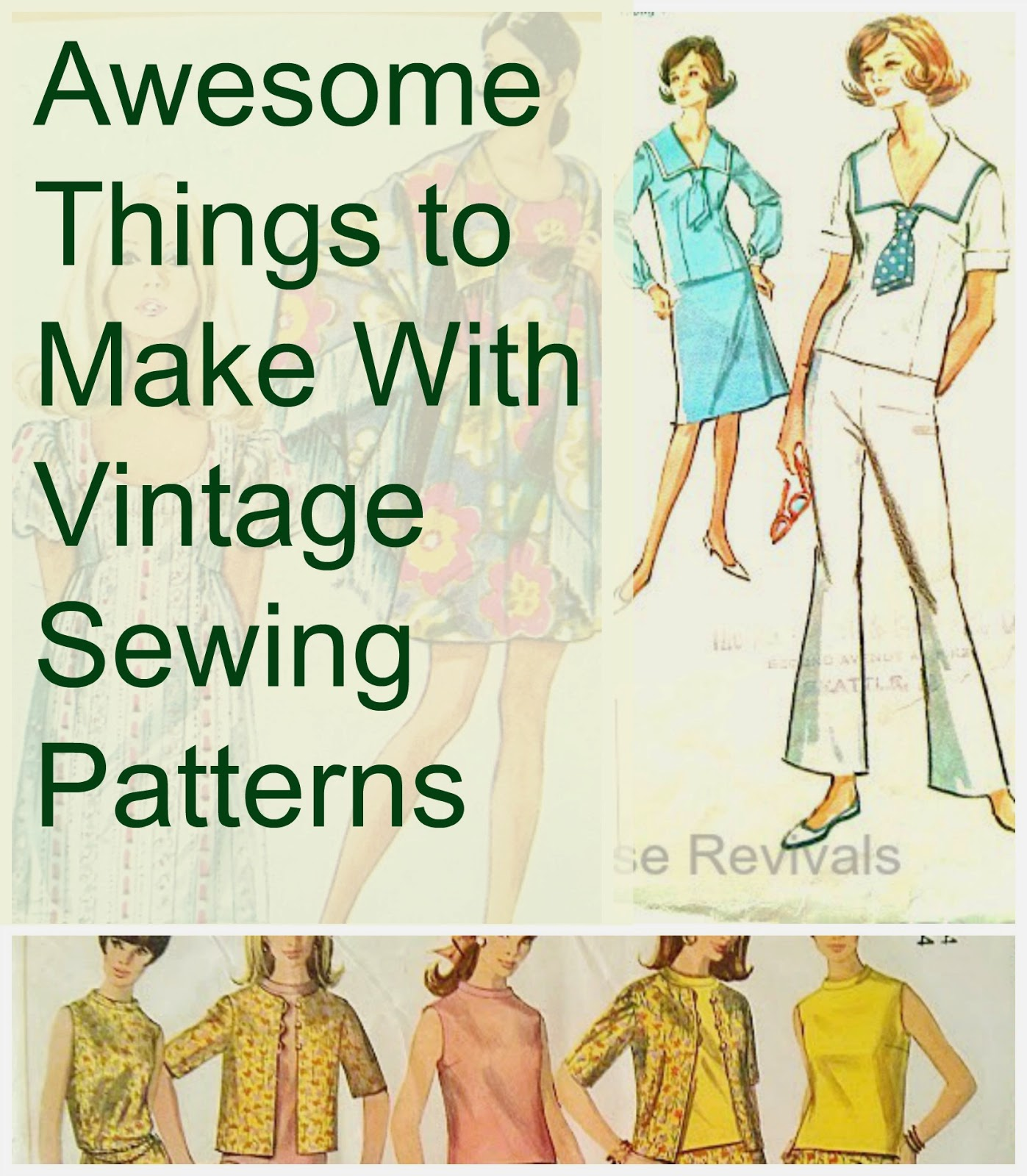 Cool things to make with vintage sewing patterns for How to make new things from old things