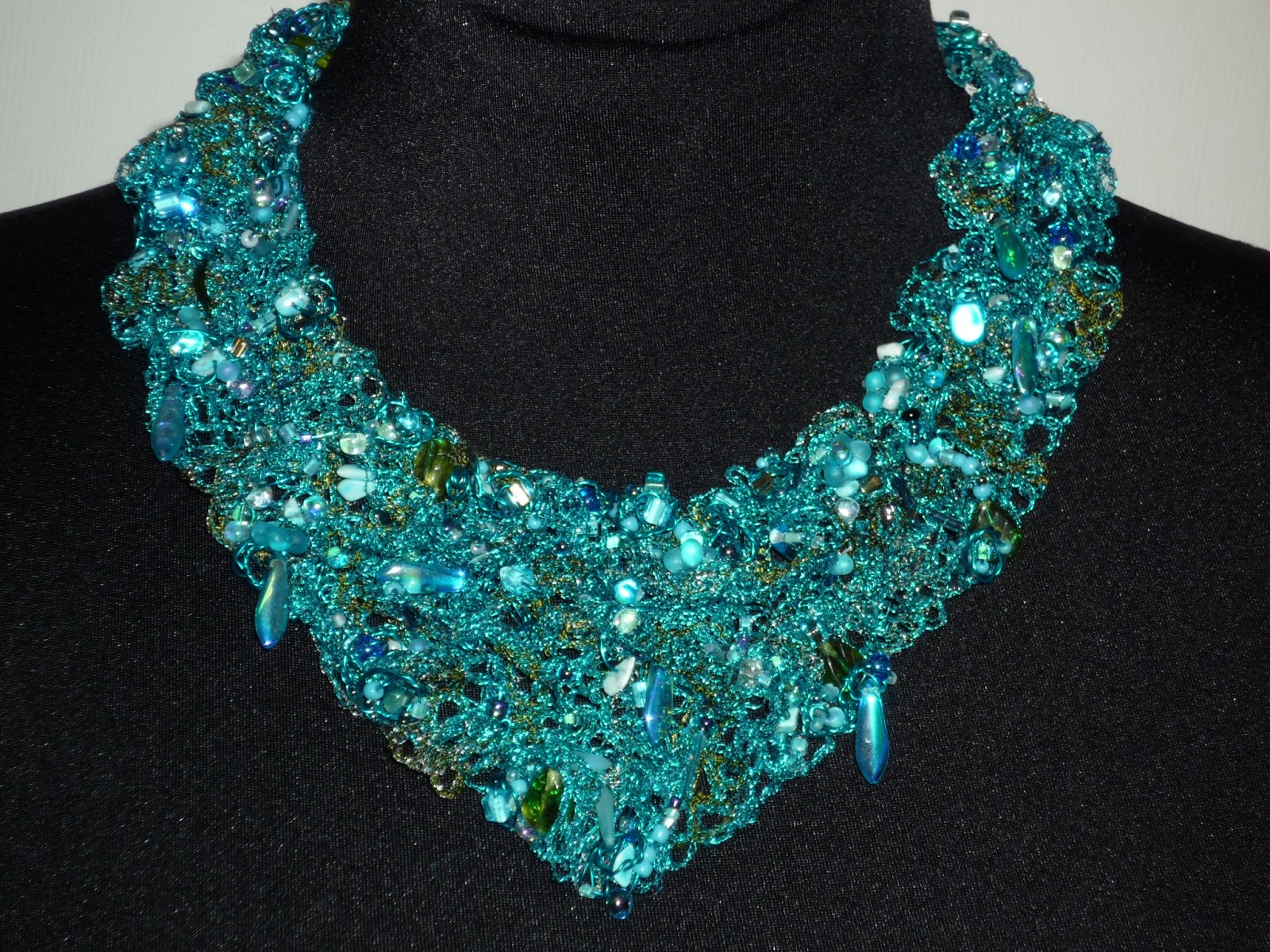 necklace teal textile double doky layered here click zoky to sorrelli enlarge