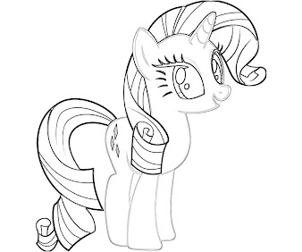 #12 Rarity Coloring Page