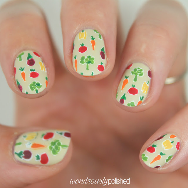 vegetable nail art