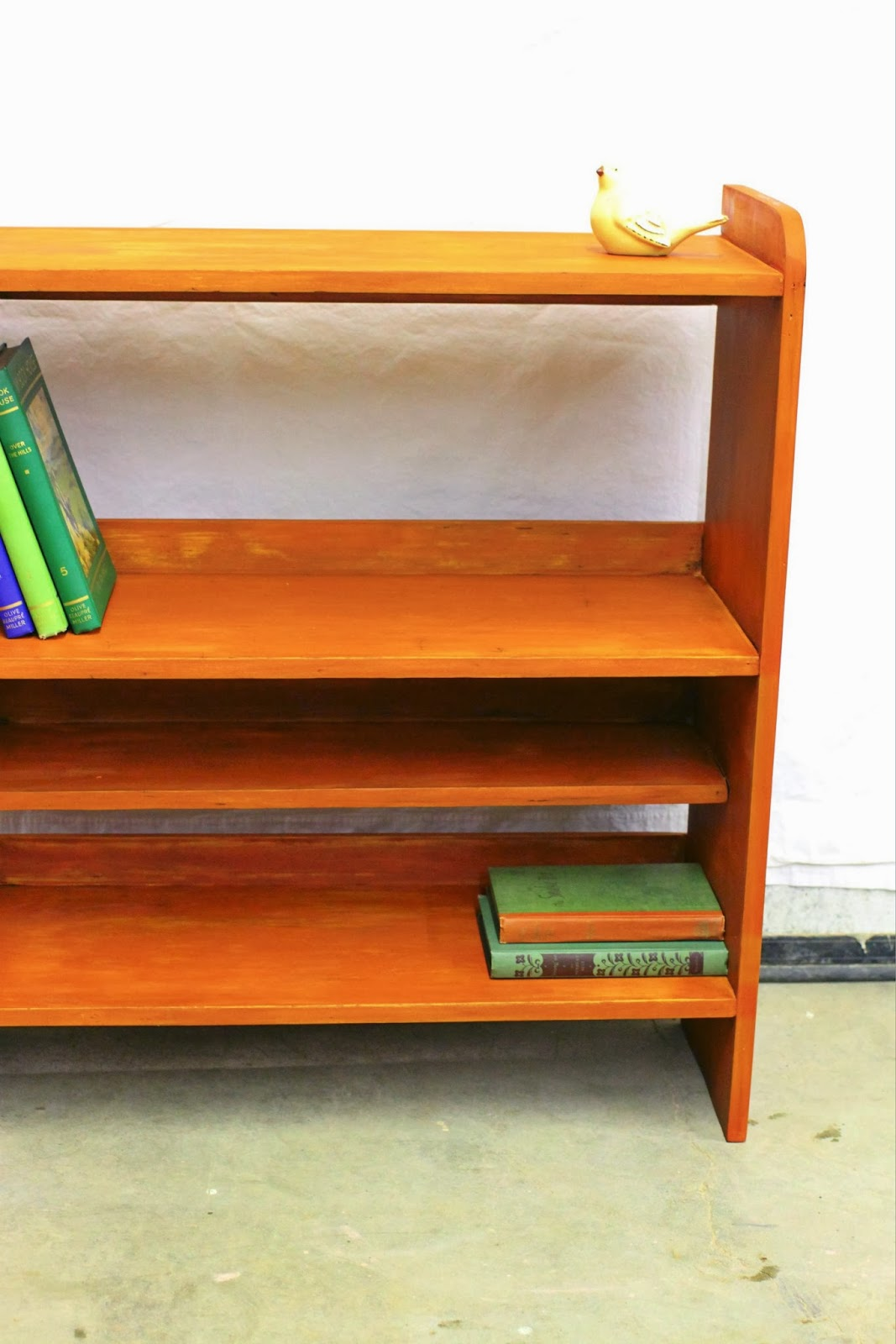 chelsea green orange red bookshelf blue brown leaning silver bookcase product
